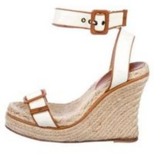 Kate Spade New York Wedges White/Brown size 7